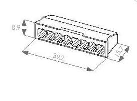 Bezvijcana redna stezaljka sdk 8p mjere